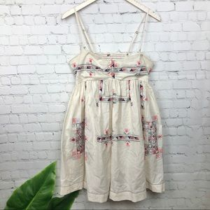 Free People Strapless Embroidered Dress Size M